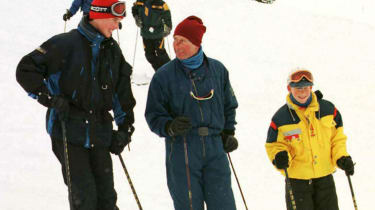 Prince Charles skiing with Prince William and Prince Harry