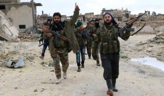Rebel groups in Aleppo