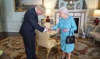 Queen and Boris Johnson