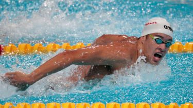 Olympic swimming champ Chad Le Clos