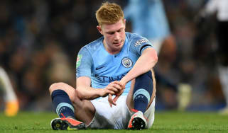 Manchester City star Kevin de Bruyne injured his left knee in the Carabao Cup against Fulham