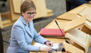 Nicola Sturgeon is re-elected to position of first minister