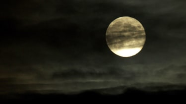 A full moon photographed in London