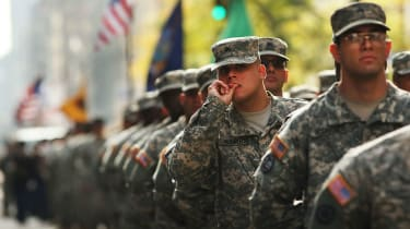 US Army soldiers mark Veterans Day in New York