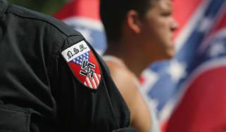 Neo Nazis take part in a Ku Klux Klan demonstration in Columbia, South Carolina last year