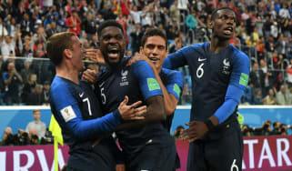 Samuel Umtiti France Belgium World Cup semi-final