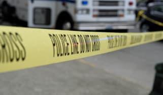 Police tape, crime scene, shooting