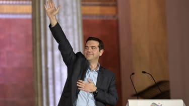 Leader of Syriza Alexis Tsipras