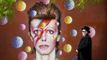 Wall portrait of David Bowie