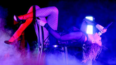 LOS ANGELES, CA - JANUARY 26:Singer Beyonce performs onstage during the 56th GRAMMY Awards at Staples Center on January 26, 2014 in Los Angeles, California.(Photo by Kevork Djansezian/Getty I