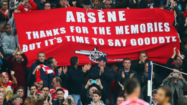 Banner appeared during the match between West Brom and Arsenal