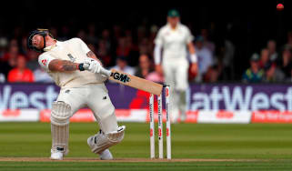 Ben Stokes avoids a short ball in the second Ashes Test at Lord's