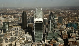 Ariel view of the City of London