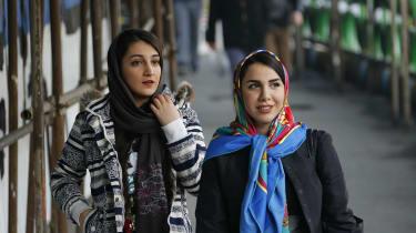 Iranian women wearing the hijab in Tehran earlier this year