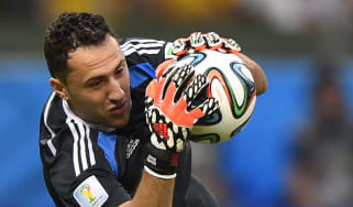 Colombian goalkeeper David Ospina at the World Cup in Brazil