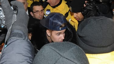 TORONTO, ON - JANUARY 29:Justin Bieber appears at a police station in connection with an alleged criminal assault on January 29, 2014 in Toronto, Canada.(Photo by Jag Gundu/Getty Images)