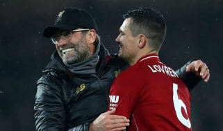 Liverpool manager Jurgen Klopp and defender Dejan Lovren