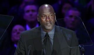 Michael Jordan speaks at The Celebration of Life for Kobe & Gianna Bryant