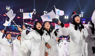 South Korea North Korea Winter Olympics unified flag