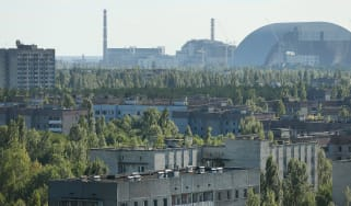 A view of the abandoned zone around the Chernobyl plant