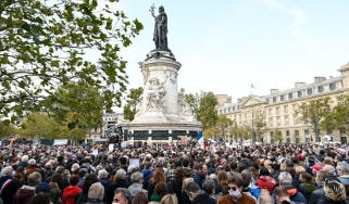 A rally in defence of free speech is held in Paris, France