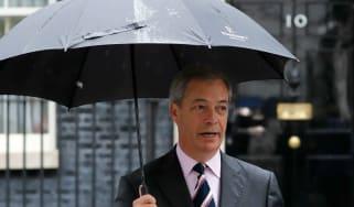 Nigel Farage outside 10 Downing Street