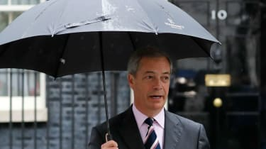 Nigel Farage outside 10 Downing Street