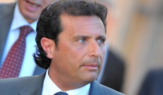 Costa Concordia captain Francesco Schettino leaves after a session of the trial in the Costa Concordia cruise ship disaster on April 15, 2013 in Grossetto. The deadly Costa Concordia cruise s