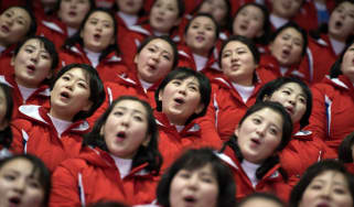 North Korea cheerleaders