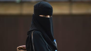 Veiled Muslim woman