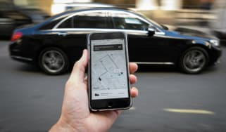 Uber ride-hailing app