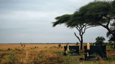 Fly camp in Katavi National Park, Tanzania