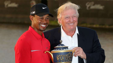 Tiger Woods with Donald Trump at the Trump Doral Golf Resort & Spa in 2013