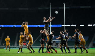 There were no fans at Twickenham to see Exeter Chiefs beat Wasps 19-13 in the Gallagher Premiership Rugby final in October