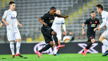 Manchester United striker Odion Ighalo opened the scoring against LASK