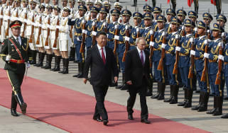 Vladimir Putin and Xi Jinping in Beijing in 2018