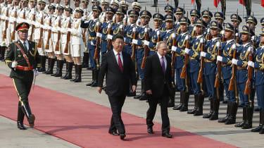 Vladimir Putin and Xi Jinping in Beijing in 2018