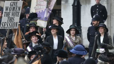 Carrie Mulligan and Helena Bonham-Carter in the 2015 movie Suffragettes