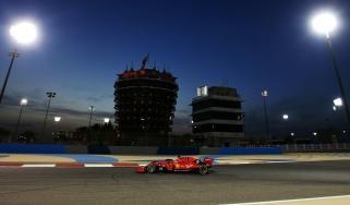 Sebastian Vettel drives the Scuderia Ferrari SF90 during practice at the F1 Bahrain Grand Prix