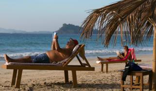 Holidaymakers on Ngapali Beach, Myanmar