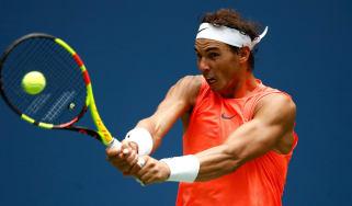 Rafael Nadal US Open Nikoloz Basilashvili tennis grand slam