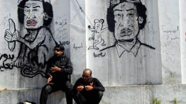 Graffiti of Gaddafi in Libya
