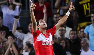 Spartak Moscow's midfielder Romulo