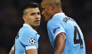 Sergio Aguero and Vincent Kompany