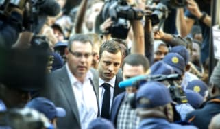 Oscar Pistorius arrives to hear verdict