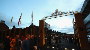 The Shankly gates outside Liverpool's Anfield stadium