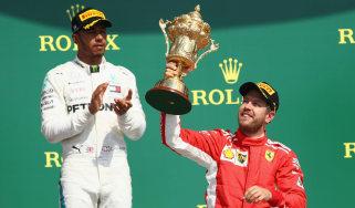 F1 British Grand Prix Sebastian Vettel Lewis Hamilton