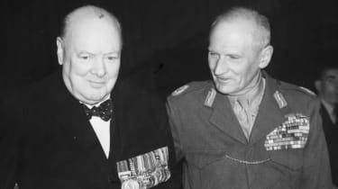 Winston Churchill with Bernard Montgomery