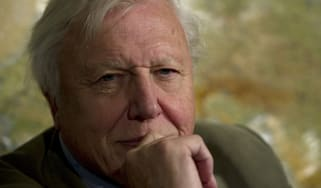 British broadcaster David Attenborough poses for a picture at an event to celebrate the Scott Antarctic Expedition Centenary with the launch of 'Edward Wilson's Antarctic notebooks' in London