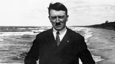 Hitler photographed on a beach